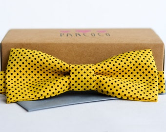 Black/Yellow Polka dot - Adjustable - Unisex