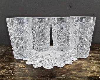 Sale Set of Four Fostoria Pattern Glass Tumblers