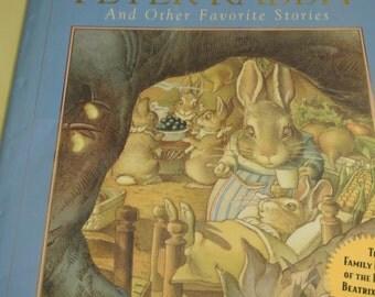 Vintage Book Tale of Peter Rabbit Beatrix Potter Charles Santore 1986