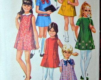 Vintage Simplicity 8621, Girls' dress pattern, size 8