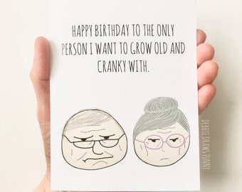 Funny Birthday Card for Husband, Funny Birthday Card for Boyfriend, Birthday Card for Him, Birthday Card for Wife, Birthday Card for Fiancé