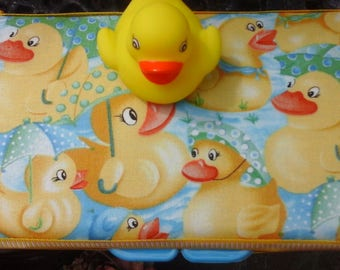 Wipe case ducky for travel wipes on the go great for baby shower or meeting the new baby.