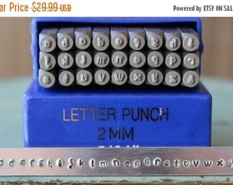 Spring Sale 2mm Verona Font Alphabet Lowercase Metal Stamp Set - Jewelry Metal Stamp - Metal Stamping and Jewelry Design Tool - SGE-9L