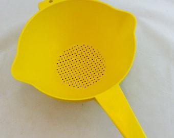 Vintage Yellow Tupperware Strainer Colander, Yellow Tupperware