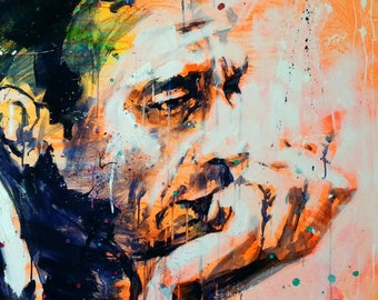 Johnny Cash - small print on paper, Giclée