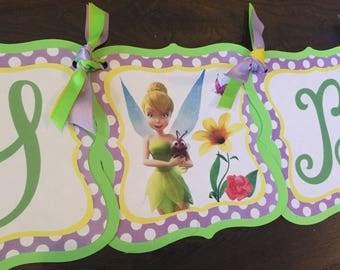 Tinker Bell Happy Birthday Banner