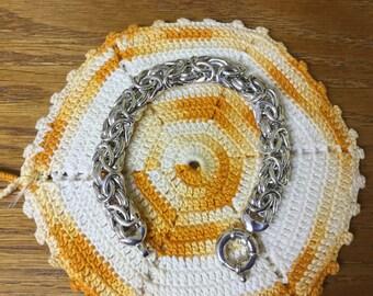 Vintage Classic Sterling Byzantine Bracelet