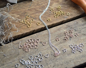 Personalized Necklace Hand Stamped Initial w/Rose Gold, Silver, and Gold heart Charms.Custom.Valentine's.Gifts.Anniversary.Gifts for her.