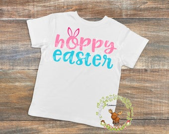 Hoppy Easter / Hoppy Easter TShirt / Easter Shirt / Hoppy Easter Shirt / Easter Bunny Shirt / Easter Shirt / Bunny Ears Shirt / Easter