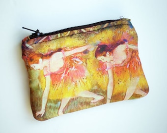 Coin purse, Small zipper pouch, Edgar Degas art, Card wallet, Gift idea, Impressionist painting, Impressionist art
