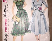 Vintage 1952 Simplicity 3931 Dress Pattern, Size 14