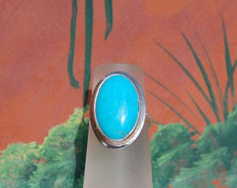 Turquoise Sterling Silver Ring size 4
