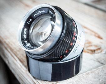 Vintage Topcon Topcor 100mm f/4 Manual Focus SLR Film Camera Lens