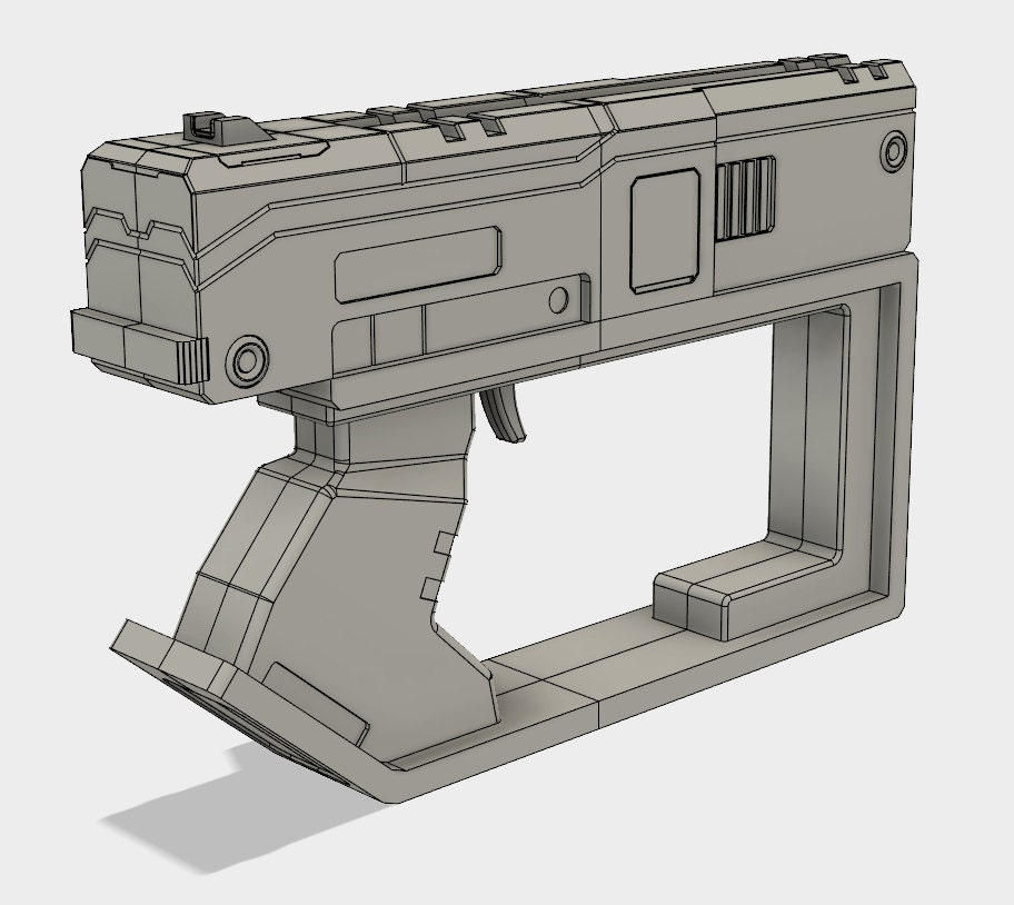 Tediore Tier 4 Pistol Model for 3D printing