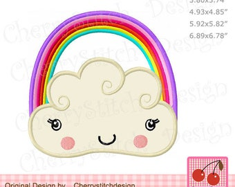 Rainbow  Machine embroidery applique design SUM25 - for 4x4 5x7 6x10 hoop