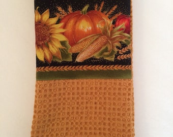 Thanksgiving autumn harvest kitchen towel
