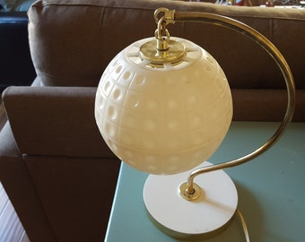 Vintage White Globe Lamp
