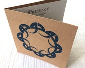 Presence, Solidarity Card Letterpress with Gold Accents, Contemporary Arabic Calligraphy