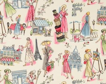 18 Inches of Springtime in Paris Multi - Michael Miller Fabric - One Half Yard