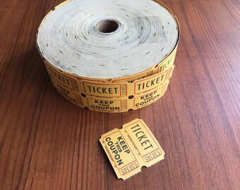 20 x Vintage Tickets - From USA - 1970s - Fairground - Raffle - Cloakroom - Crafting