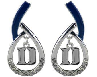 DUKE University Blue Devils Dangle Teardrop Earrings