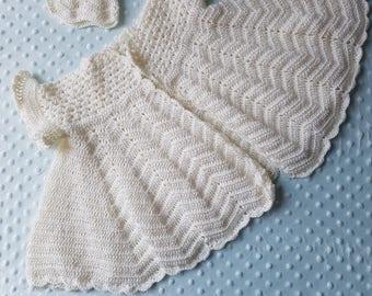 Christening coat, crochet coat, naming day coat, wedding coat, gown and bonnet, heirloom, crochet hat, crochet coat, christening gift