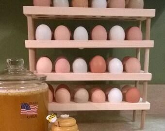 Stacking Wooden Egg Holder