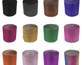 Simulated Rhinestone Mesh, Diamond Mesh, Rhinestone Mesh, Wedding bling decor, Lavender Diamond Mesh, Soft Bling