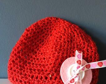 Valentine's Day Newborn Hat