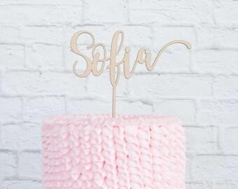 Birthday Cake Topper, Custom Birthday Cake Topper, Custom Name Cake Topper, DIY Cake Topper