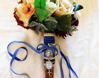 Custom Double Wedding Bouquet Photo Memory Charm Bridal Party Gift Keepsake Momento
