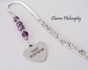 Best Stepmom Bookmark - Stepmother Gift - Custom Beaded Bookmark - Stepmom Mother's Day Gift Ideas