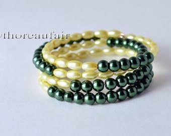 SALE Wrap Bracelet - Handmade - Ivory & Hunter - Gifts for Her