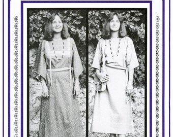 Women's Plains Indian Cloth Dress sizes 8-20 with Variations - Eagle's View Sewing Pattern - Native American