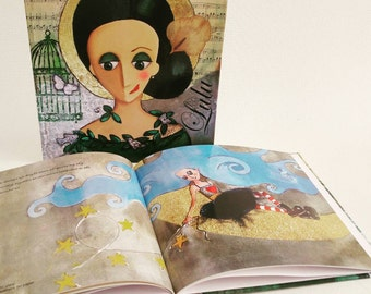 Book with Lulu artwork collection, beautiful original high gloss images, inspirational words of wisdom, 24 pages