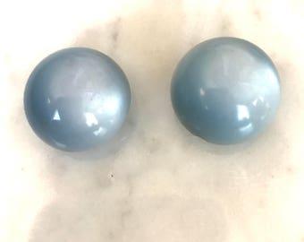 Vintage Blue Glamour Magic Magnetic Earrings