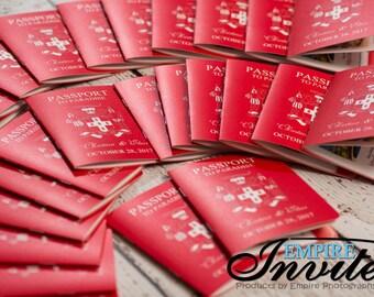 Passport Invitations for a destination wedding   Invites handmade in Canada by  ---- www.empireinvites.ca ---