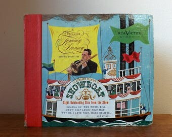 "Tommy Dorsey ~ Showboat ~ Jerome Kern ~ RCA Victor 78 rpm ~ 4 Record Set ~ 10"" Shellac Records"