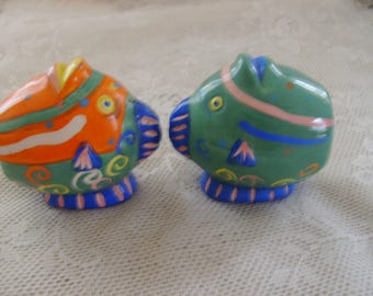 Rainbow Trout Salt and Pepper Shakers - Vintage, Collectible, Salt and Pepper Shakers, Kitchen, Dining, Home Decor