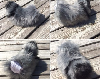 Black and Grey Nub Tail