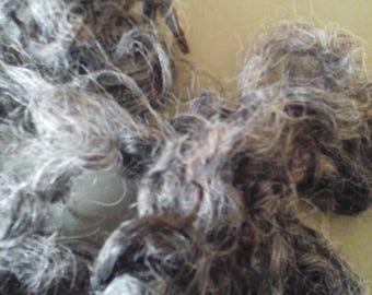 GOTLAND  LAMBS FLEECE washed 50g grey