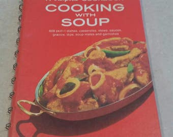 On Sale Campbell's Cooking with Soup Recipes Spiral Bound Hardback Cookbook 1992 Book