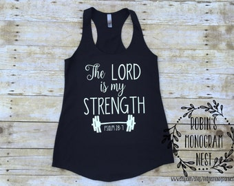 Workout Tank, Crossfit Tank, Christian Workout, Christian Shirt, Workout Shirt, Christian Gifts for Women, Yoga Tank, Workout Tank for Women