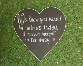 Loved Ones Wedding Chalkboard