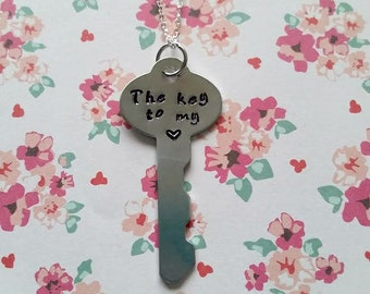 The Key to my Heart Necklace - Valentine's day Jewelry - Couples Necklace - Love - Key Necklace