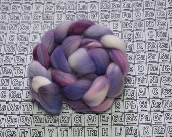 Syringia 1 - 4 oz polwarth combed top - multicolor mad science spinning fiber - handdyed wool roving - one of a kind