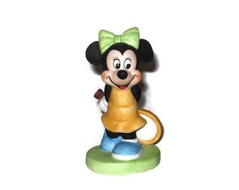 Minnie Mouse Tennis Disney Figurine Ceramic Figure Porcelain Walt Disney Productions