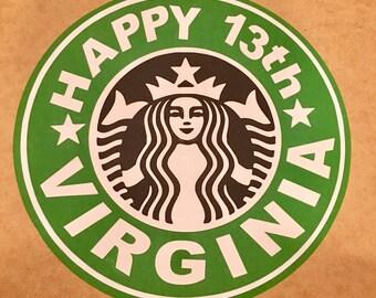 Starbucks Inspired Logo Sign