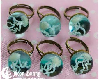 Jellyfish in a bottle Ring