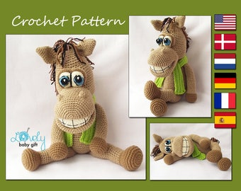 Amigurumi Pattern, Amigurumi Horse,  Horse Crochet Pattern, Animal Crochet Pattern, CP-133